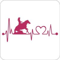 Aufkleber Reining Frau Heartbeat